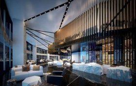 مدل سه بعدی لابی هتل در تری دی مکس