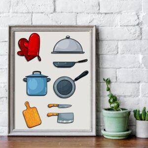 فایل گرافیکی کاراکتر وسایل آشپزی Kitchenware