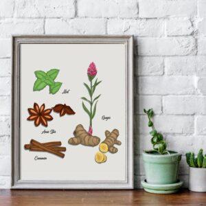 فایل گرافیکی کاراکتر گیاه natural herb