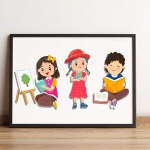 فایل گرافیکی کاراکتر کودک childhood cartoon