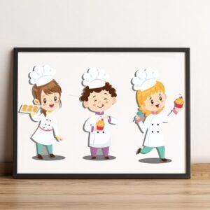 فایل گرافیکی کاراکتر آشپزی kid cook
