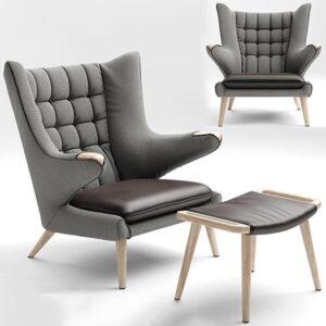 آبجکت سه بعدی صندلی مدرن برای SketchUp