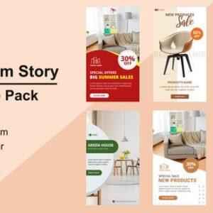 پروژه افترافکت اینستاگرام مبلمان Furniture